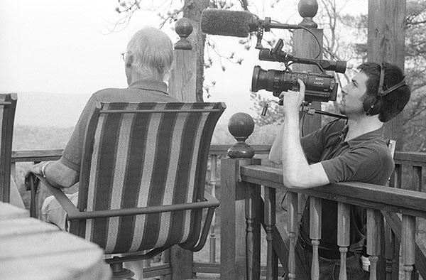 Jonathan Goodman Levitt filming